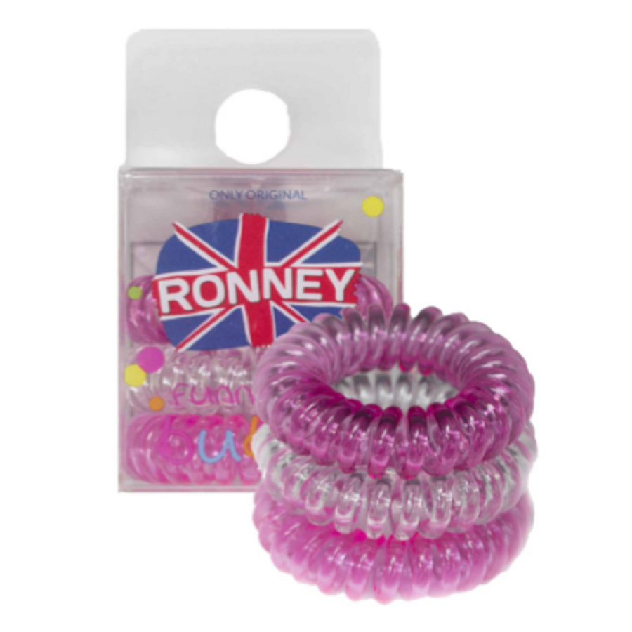 Ronney Funny Ring Bubble 3 x pink (dark pink, transparent, neon pink)
